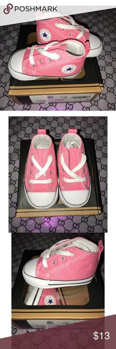 Pink Baby crib converse shoes Pink baby converse shoes (crib)                                            💕 BRAND NEW NEVER WORN 💕 Converse Shoes Baby & Walker