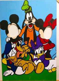 Mickey Mouse Clubhouse Cut Out, Mickey Mouse Party Props, Wood Yard Art, Face In Hole, Minnie Mouse Photo Prop, Mickey and Friends Standee by CutItOutCustoms on Etsy