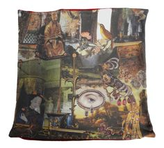 The cushion is hand made in Spain and shows part of the famous story The Nightingale by Hans Christian Andersen Hans Christian, Cushion Pillow, Pillows, Cushions For Sale, Nightingale, Buy Art, Digital Prints, Fairy Tales, House Design