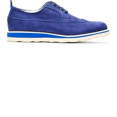 White Mountaineering Blue Suede Longwing Austerity Brogues