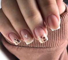 "107 aprecieri, 1 comentarii - Маникюр KoLoSoK🌾NaiL💅🏻 (@kolosova_tatayna) pe Instagram: ""Клёвые🤍 #зимнийманикюр #тренд #френч #дизайнногтей #идеиманикюра #красивыйманикюр…"" Christmas Manicure, Nails, Beauty, Finger Nails, Holiday Nails, Ongles, Beauty Illustration, Nail, Nail Manicure"