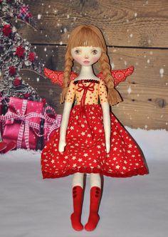 SALETextile кукла РОЖДЕСТВО АНГЕЛА кукла хлопок тряпка на NilaDolss