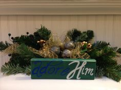 ADORE HIM - wood art - home decor etsy.com.shop/ShareHisBlessings  Thanks for viewing my work! I can customize all my projects to fit your style. Let me know if you are looking for a certain color, size or phrase – I'd be happy to make it just for you! Stay Blessed..