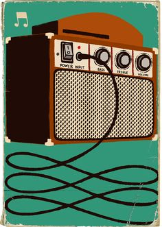 One of a series of prints by illustrator Paul Thurby for London's Southbank Centre. The prints draw on the Royal Festival Hall's distinctive architecture and cultural programme.