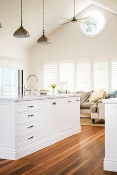 Albedor Sheree doors in Satin White Roller Doors, Built In Furniture, Kitchen Doors, Decorative Panels, White Satin, Coastal Style, Panel Doors, Kitchen Styling, Door Design