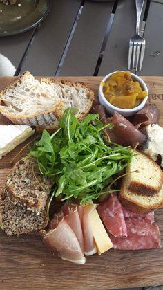 Foodie platter @ Jordan Bakery Platter, Bakery, Pork, Meat, Kale Stir Fry, Pork Chops, Bakery Business, Bakeries