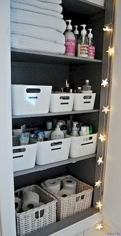 Clever Bathroom Organization Ideas and Tips 020