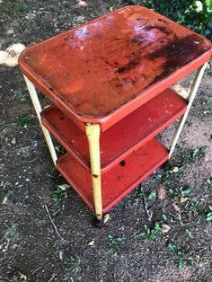 This cart belonged to my grandma. It's been inside, outside, rained on, snowed on, and thanks to the dogs, has been pottied on. I've been hauling it around for…