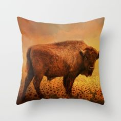 https://society6.com/product/buffalo-dreams147317_stretched-canvas 15% Off + Free Shipping Today! #Buffalo #art #sale  Throw Pillow made from 100% spun polyester poplin fabric, a stylish statement that will liven up any room. Individually cut and sewn by hand, each pillow features a double-sided print and is finished with a concealed zipper for ease of care.  Sold with or without faux down pillow insert.