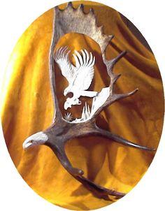 Moose antler carving rusticartistry.com