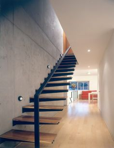 tapered wood + steel #stairs