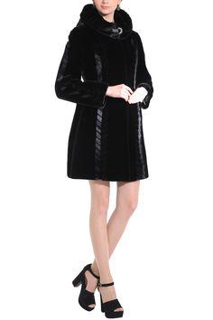 a83e752522 Chevelle sleek lines couture black shared mink faux fur coat