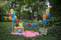 2nd Birthday Photos, Boys First Birthday Cake, Rainbow First Birthday, Colorful Birthday Party, Birthday Girl Pictures, 1st Birthday Photoshoot, Picnic Birthday, Outdoor Birthday Decorations, Kids Birthday Photography