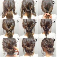Easy, hope this works out quick morning hair!: Easy, hope this works out quick morning hair!:,Прически Easy, hope this works out quick morning hair! Peinado Updo, Hair Photo, Pretty Hairstyles, Natural Hairstyles, Easy Hairstyles For Work, Hairstyles 2018, No Heat Hairstyles, Office Hairstyles, Short Hair Messy Bun