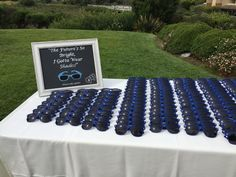 Sunglasses for guests at Erica and John's wedding in Aptos, CA