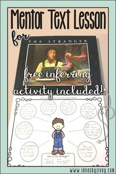 Teach students to practice inferring with this mentor text lesson using the mentor text The Stranger by Chris Van Allsburg. Mentor Sentences, Mentor Texts, Readers Workshop, Writing Workshop, Workshop Ideas, Writing Mini Lessons, Reading Lessons, Math Lessons, Reading Skills
