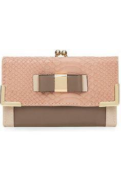 Carteras y monederos de mujer - New Look Pink Colour Block Twist Lock Purse