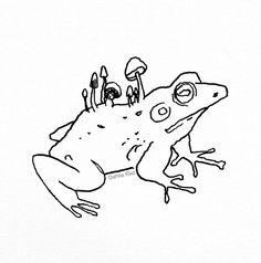 Frog | Tattoo Designs Tattoo Design Drawings, Tattoo Sketches, Tattoo Designs, Art Sketches, Frog Tattoos, Mini Tattoos, Small Tattoos, Flash Art Tattoos, Body Art Tattoos