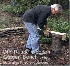 DIY rustic_wooden_garden_bench