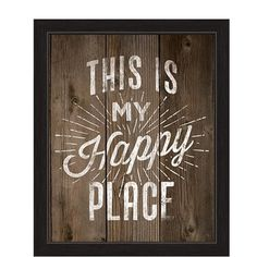 """You'll love the """"This Is My Happy Place"""" Framed Textual Art at Wayfair - Great Deals on all Décor  products with Free Shipping on most stuff, even the big stuff."""