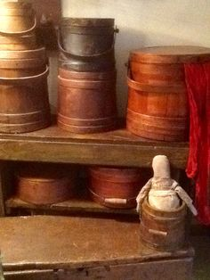 Firkins and pantry boxes