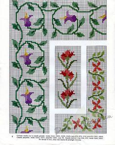 Mini Cross Stitch, Beaded Cross Stitch, Cross Stitch Borders, Cross Stitch Flowers, Cross Stitch Designs, Cross Stitching, Cross Stitch Embroidery, Cross Stitch Patterns, Palestinian Embroidery