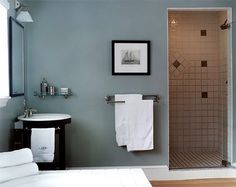 Superb Small Bathroom Color Ideas Part 9 - Bathroom Paint Color Ideas Bathroom Wall Decals, Bathroom Rules, Guest Bathrooms, Bathroom Ideas, Master Bathroom, Bathroom Designs, Small Bathrooms, Bathroom Modern, Bath Ideas