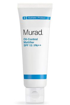 """Next, she smooths on her favorite moisturizer, Murad Oil-Control Mattifier with SPF 15/PA  . """"My skin is a little oily and it was a challenge to find a moisturizer with a broad-spectrum sunscreen and a matte finish,"""" she says.Murad Oil-Control Mattifier SPF 15/PA  , $39.50, available at Murad. #refinery29 http://www.refinery29.com/cosmetic-chemist-skin-care-tips#slide-4"""