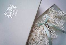 Forever lace garter with rhinestone trim by florriemitton on Etsy, $85.00