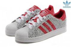 62,99 € - Adidas Superstar Femme Foot Locker Pettern Noir Rouge Boutique En Ligne Moins Cher