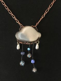 Wonderful cloud by Jade Scott, gifted by Laura Guenther! Jewelry Necklaces, Jewellery, Ring Bracelet, Wire Wrap, Jade, Cloud, Contemporary Art, Jewelry Accessories, Jewelry Making