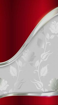 By Artist Unknown. Silver Wallpaper Background, Red And Silver Wallpaper, Orange Wallpaper, Ocean Wallpaper, Apple Wallpaper, Mobile Wallpaper, Wallpaper Backgrounds, Colorful Backgrounds, Red Background