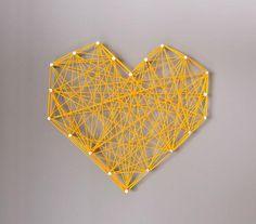 DIY Threaded Heart Wall Art DIY Wall Art DIY Crafts DIY Home