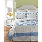 Martha Stewart Collection Bedding, Hana Palm Full/Queen Quilt