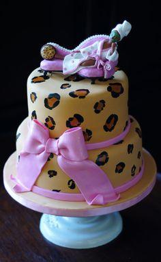 Spa Diva Leopard Print Cake