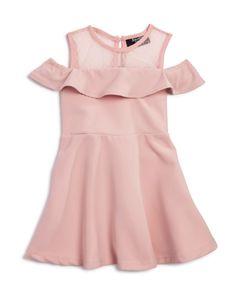 Bardot Junior Girls' Cold-Shoulder Ruffle Dress - Baby