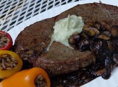 This melt in your mouth Black and Blue Steak starts with quality grassfed meat and ends with the perfect broiling technique. The rich burst of black peppercorn and smooth sharp blue cheese perfectly accent every bite while being kept simple and quick
