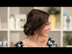 Bridal Hair: French Braid Updo - YouTube
