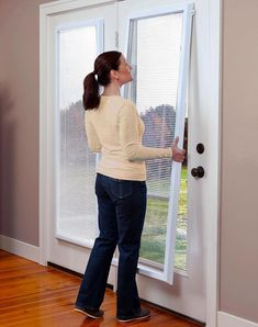 home decoration for room ideas French Door Window Treatments patio doors- Blinds For French Doors, French Door Windows, Front Doors With Windows, Glass French Doors, French Doors Patio, French Patio, Door Window Covering, Sliding Door Window Treatments, Sliding Door Blinds