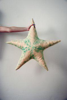 Large Handmade Plush Pale Pink Wool Starfish Stuffed by BigStuffed, €75.00