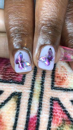 Dark Skin Nail Color, Ideas Para, Nail Colors, Gel Nails, Butterflies, Protein, Nail Designs, Nail Art, Gel Nail