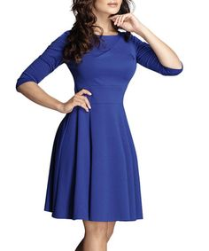 Blue fit-and-flare dress Sale - Figl Sale