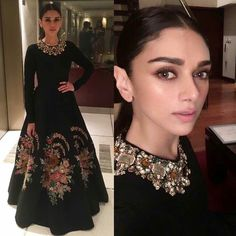 Black Gown by Sabyasachi, Aditi Rao Hydari in Black Indian Gown, Latest sabyasachi collection Latest sabyasachi collection, latest collection by Indian Wedding Gowns, Indian Gowns Dresses, Indian Fashion Dresses, Indian Designer Outfits, Pakistani Dresses, Designer Dresses, Black Indian Gown, Dress Indian Style, Stylish Dress Designs