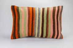 Kilim rug cushion cover. We use very good quality rug kilims in this collection.  Vintage rug kilim is approximately 60 years old and hand woven by