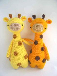 esquema de la jirafa ganchillo amigurumi