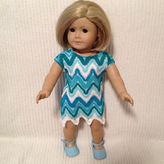 18 inch Doll modeled by American Girl Knit spring by peggysprozac