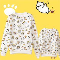 Japanese kawaii anime cat fleece pullover