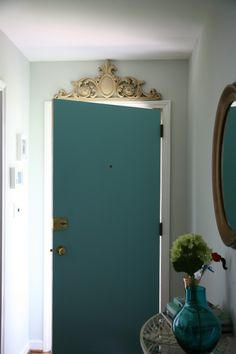 love putting something fancy over the front door (interior) like this