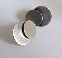 Betty Cooke Sterling Circles Earrings
