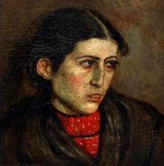 Goitia, Francisco (1882-1960) - Head of a Woman (Private Collection), for more, please visit: http://www.painting-in-oil.com/artworks-Rivera-Diego.html